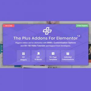 The Plus – Addon for Elementor Page Builder WordPress Plugin